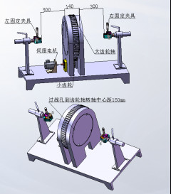 Bending Test Cable Testing Equipment , Rotary Testing Machine Three Stations